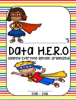 Daily and Data H.E.R.O. Binder Cover (Super Hero theme) 2016 - 2017