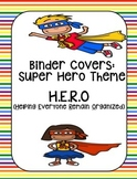 Daily and Data H.E.R.O. Binder Cover (Super Hero theme) UP