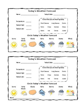 Daily and Monthly Weather Log