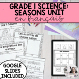 Grade 1 Daily and Seasonal Changes Unit / Le cycle des jours et saisons (French)