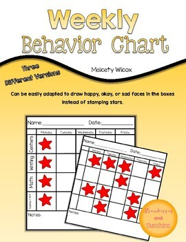 Daily and Weekly Behavior Chart BUNDLE