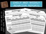 Behavior Reports *Editable*
