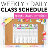 Daily and Weekly Class Schedule Templates   Editable   Goo