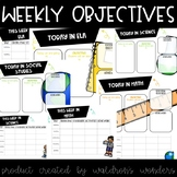 Daily and weekly objectives to display in your classroom!
