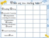 Daily Balanced Literacy Rotation Chart Power Point Star Themed