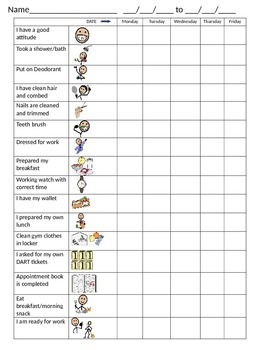 Daily check in sheet