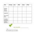 Daily checklist for keeping track of student work
