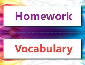 Daily classroom objectives