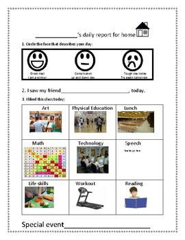 Daily communication logs: self report