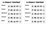 Daily five /literacy center student trackers