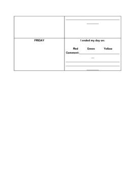 Daily homework/behavior log