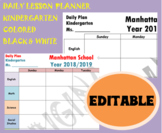 Daily lesson planner simple