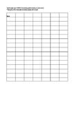 Daily math homework score sheet