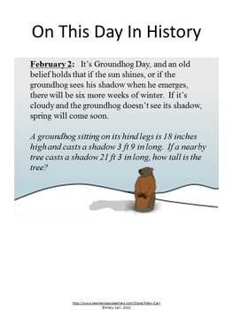 Daily Math Word Problems (Bell ringers) for FEBRUARY