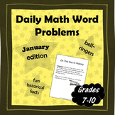 Daily Math Word Problems (Bell ringers) for JANUARY