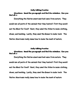 Daily paragraph editing practice
