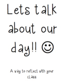 Daily reflection WITH the students!