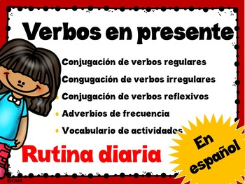 Daily routine / Conjugation of verbs A1 Spanish