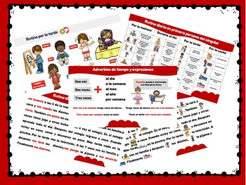 Daily routine / Conjugation of verbs present A1 Spanish