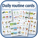 Daily routine cards / Visual schedule for home or school