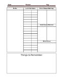 Daily sheet for teachers