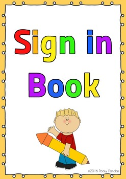 Daily sign in book cover and poster