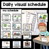 Daily visual schedule classroom autism speech sped