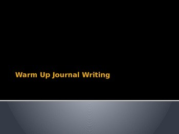 Daily warm up journal writing