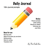Daily writing prompt journal
