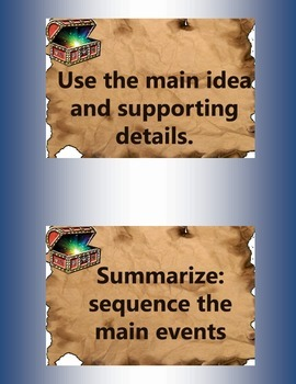 Reading Strategy Pack (Old World/Ocean/Pirate/Treasure Theme)