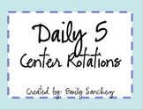 Daily5 Rotation Signs for Stations