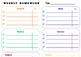 Daily/Weekly Homework Planner