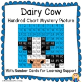 Dairy Cow Hundred Chart Mystery Picture with Number Cards
