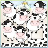 Dairy Cows Clip Art - Farm Animals Clip Art - CU Clip Art & B&W