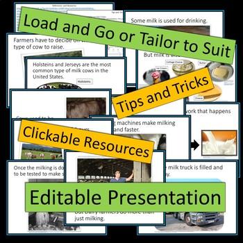 Dairy Farms - PowerPoint Presentation - Editable