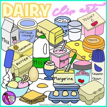 Dairy Groceries clip art