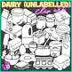 Dairy Groceries clip art (unlabeled)