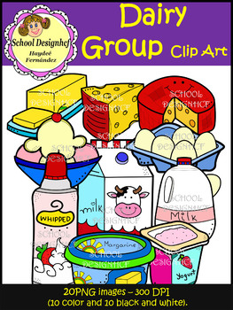 Dairy Group Clip Art - Food Group (School Designhcf)