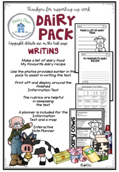 Dairy Activities and Worksheets