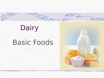 Dairy Power Point
