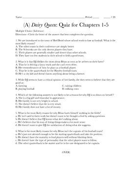Dairy Queen - Chapter Exams