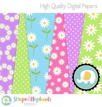 Daisies Digital Papers