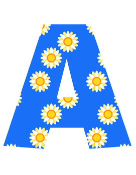 Daisy Alphabet BLUE