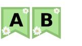 Daisy Alphabet Banner