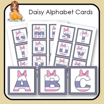 Daisy Alphabet Cards