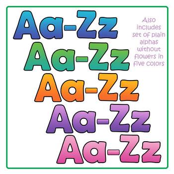 Alphabet: Flower Alphabet Clip Art