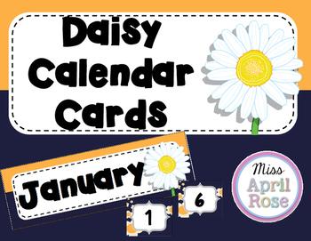 Daisy Calendar Cards