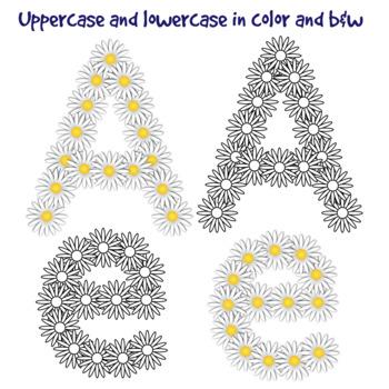 Daisy Chain Clip Art Alphabet Letters