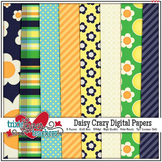 Daisy Crazy Digital Papers