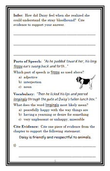 Daisy Dawson Is on Her Way! (Steve Voake) Novel Study / Comprehension (24 pages)